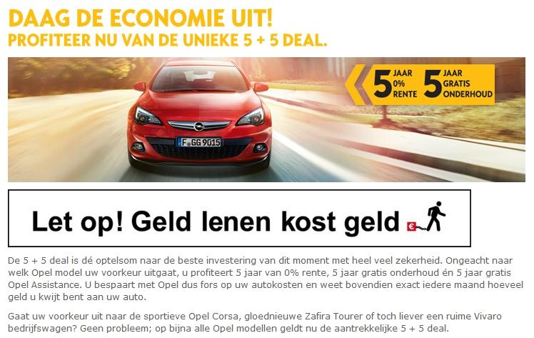 Campagne-analyse: Opel 5+5 deal – Daag de economie uit!